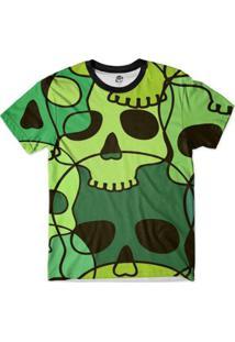 Camiseta Bsc Caveira Desenho Full Print Masculina - Masculino