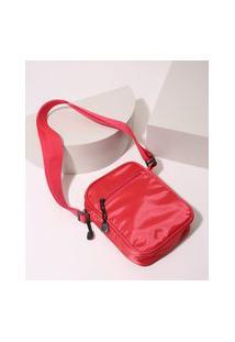 Bolsa Masculina Shoulder Com Bolso Vermelha