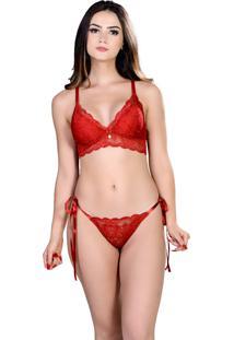 Conjunto Yasmin Lingerie Chic23 Vermelho - Vermelho - Feminino - Dafiti