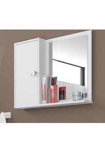 Armário De Banheiro 1 Porta Gênova Branco - Bechara Móveis