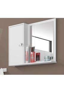 Armário Para Banheiro 1 Porta Gênova Branco - Bechara Móveis