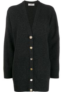 Pringle Of Scotland Cardigan Estilo Boyfriend - Cinza
