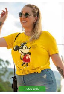 Blusa T-Shirt Estampada Amarelo