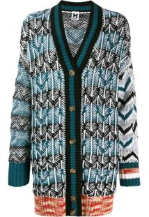 M Missoni Cardigan Oversized - Azul