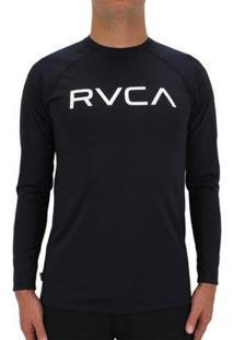 Camiseta Rvca Lycra M/L Micro Mesh Black - Masculino