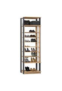Closet 1009C Carvalho/Cinza - Be Mobiliario
