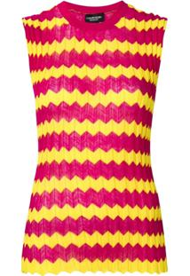 Calvin Klein 205W39Nyc Zig Zag Knitted Top - Rosa