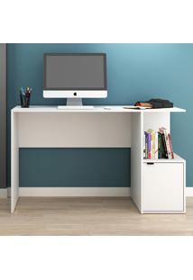 Mesa Para Computador 1 Porta Bc75 Branco - Brv Móveis