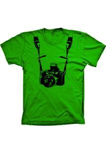 Camiseta Lu Geek Manga Curta Fotógrafo Verde