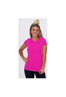 Camiseta Puma Active Feminina Rosa Logo