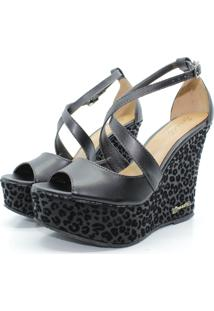 Sandalia Barth Shoes Lunar Jaguar Preta