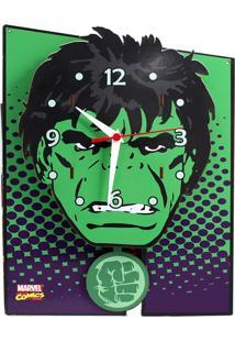 Relógio De Parede Hulk Geek10 Verde
