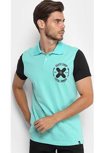 Camisa Polo Fatal Malha Bicolor Masculina - Masculino