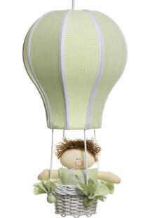 Lustre Balão Cintura Quarto Bebê Infantil Menino Potinho De Mel Verde