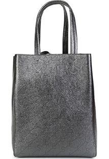 Bolsa Ellus Shopping Bag Dupla Face Feminina - Feminino-Grafite
