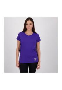 Camiseta Errea Creponada Feminina Roxa