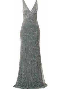Rachel Gilbert Vestido De Festa Arna Com Paetês - Verde