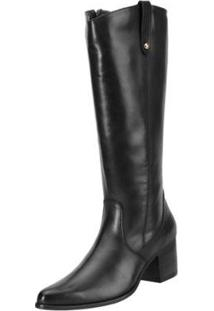 Bota Encinas Leather Montaria - Feminino-Preto