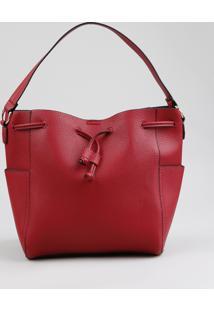 Bolsa Saco Feminina Transversal Vermelha - Único