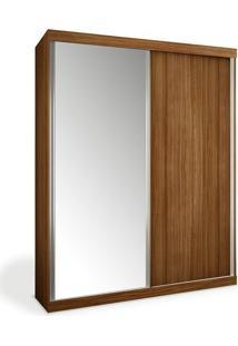 Armário 2 Portas De Correr, 1 Espelho, Imbuia, Criare