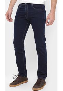 Calça Jeans Skinny Rock Blue Lavada Masculina - Masculino