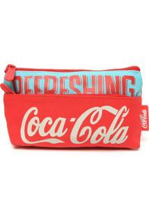Nécessaire Coca Cola Retrô Vermelha/Verde