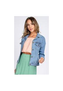 Jaqueta Jeans Bloom Celyna Clássica Delavê