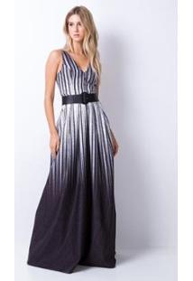 d970fe7551 ... Vestido Longo Cinto - Lança Perfume - Feminino-Preto