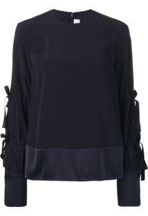 Victoria Victoria Beckham Blusa Com Amarração - Azul