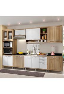 Cozinha Completa Sem Tampo 15 Portas 5834 Argila/Branco - Multimóveis