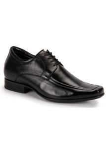 Sapato Social Aumenta Altura Masculino Jota Pe Grow Air - Preto