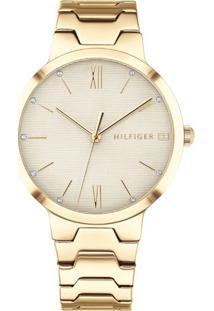 6d06b39e39c Relógio Digital Dourado Tommy Hilfiger feminino