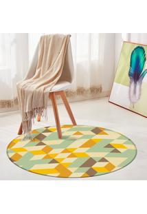 Tapete Redondo Wevans Illusion Triângulos