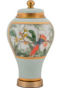 Vaso Decorativo De Cristal E Bronze - Linha Botanique