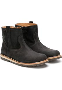 Gallucci Kids Ankle Boot Com Zíper - Cinza