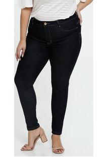 Calça Jeans Cigarrete Feminina Plus Size Sawary