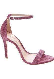 Sandália Strip Lurex Pink   Schutz