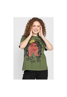 Camiseta Colcci Back In The 80'S Verde