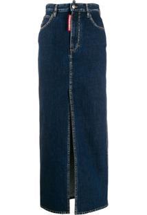 Dsquared2 Saia Lápis Jeans Longa - Azul