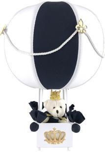 Abajur Balãozinho Urso Príncipe Marinho Quarto Bebê Infantil Menino - Kanui