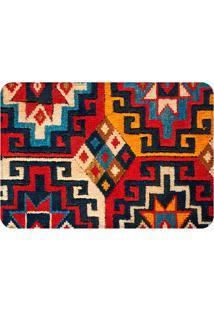 Tapete Geométrico Carpe- Vermelho & Amarelo- 125X90Cwevans
