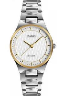 Relógio Skmei Analógico Feminino - Feminino-Prata+Dourado