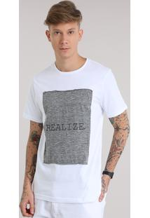 "Camiseta Ano Novo ""Realize"" Branca"