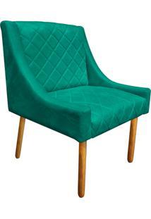 Poltrona Decorativa Paris Suede Verde Tiffany - D'Rossi
