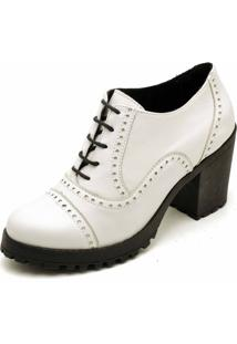 Bota Ankle Bott Em Couro Dexshoes Branco