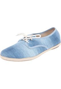Oxford Moleca Jeans Estonado Azul