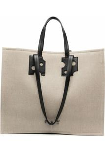 Off-White Repeat Shopping Tote Bag - Marrom