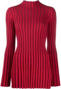 Kenzo Striped Knitted Top - Vermelho
