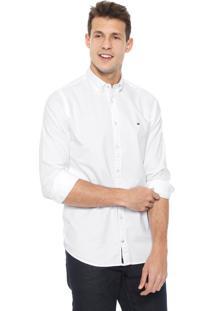 Camisa Tommy Hilfiger Slim Core Stretch Ox Branca