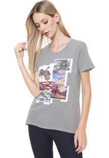 Camiseta Calvin Klein Jeans Squares Cinza